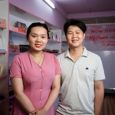 Vợ chồng anh Nguyễn Quỳnh Thanh Thiện